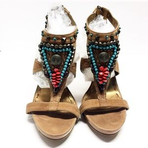Nine West Southwestern Sandals sz 6.5